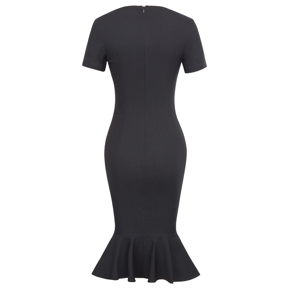 Black Mermaid Bodycon Dress