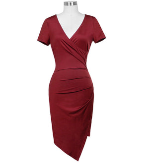 Sexy Draped Pencil Bodycon Dress