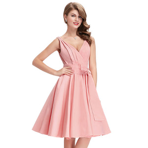 V-Neck  Evening Prom Party Wiggle Dress