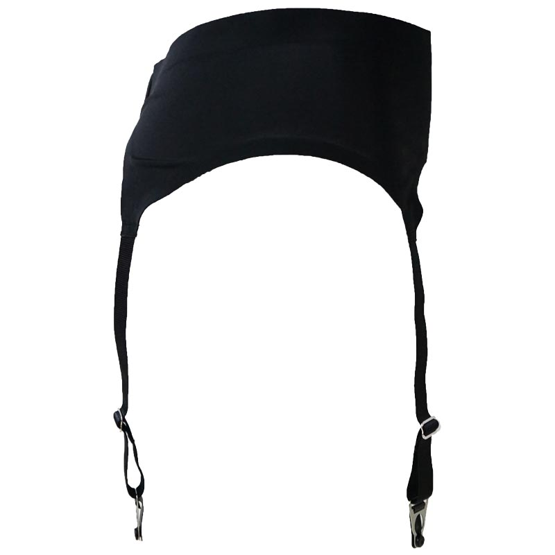 Black 4 Wide Straps Retro Seamless Metal Buckles