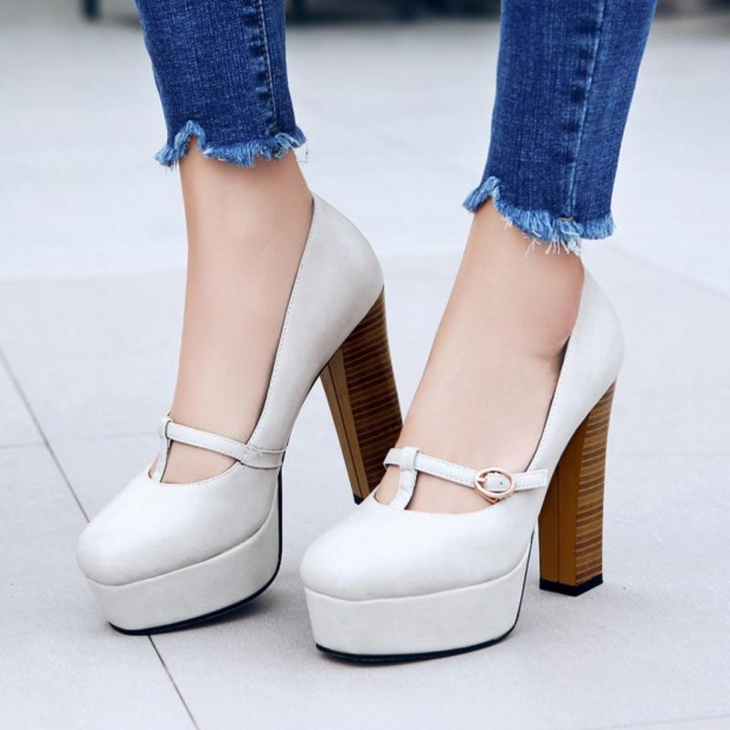 Vintage Ankle Strap Pumps