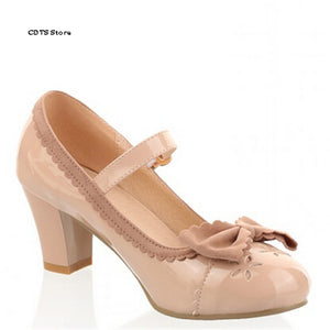Bowtie Soft Out Sole High Heeled Shoes
