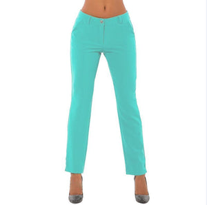 Womens Rockabilly Skinny Solid Color Pencil Pants