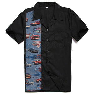 Men's Route 66 Printed Cotton Vintage Style Rockabilly Shirts