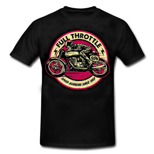 Mens Full Throttle Cafe Racer Special Edition Rrockabilly T-Shirt