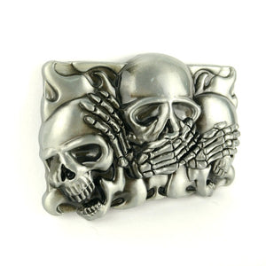 Rock Punk Hebillas De Metal Skull Belt Buckle