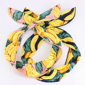 Cute Banana Pinup Headband Adult Serging Edge Bandana Hair Bow Tie Wholesale High Quality Hairband Rockabilly Hair Accessories