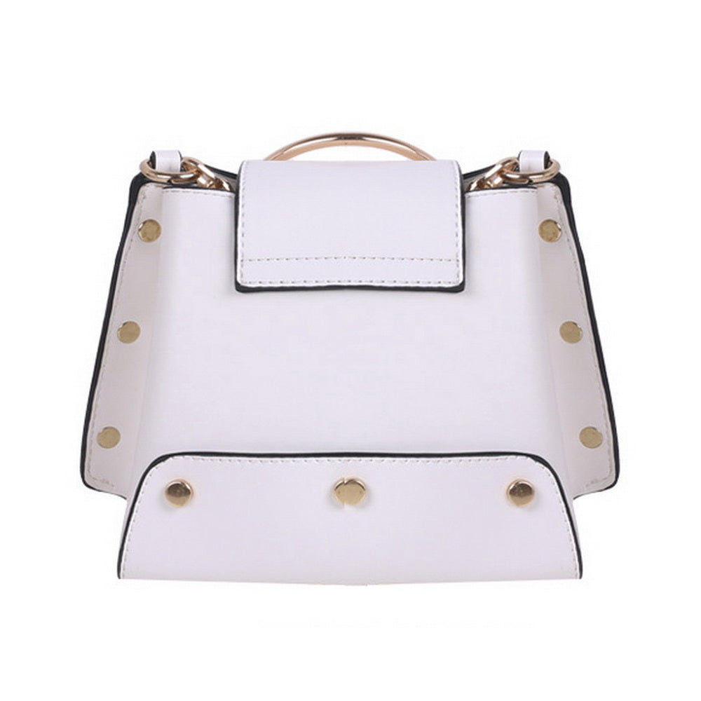 Luxury Metal Ring Women Handbag Rock Style Rivet