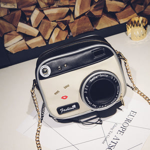Camera Shape Chain Crossbody Bag