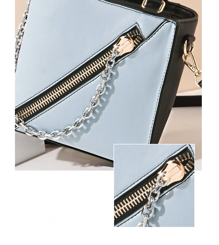 Leather Chain Punk Style Shoulder Bag