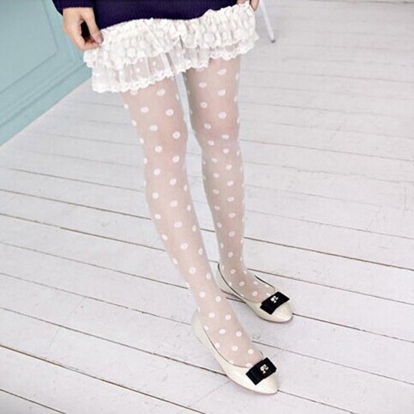 Vintage Dot Shiny Pantyhose