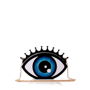 Eye Hard Case Clutch Handbag