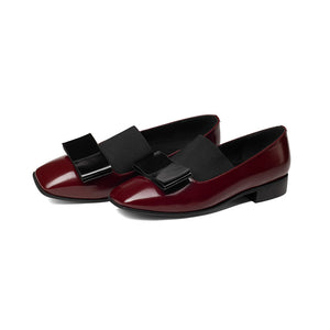 Round Toe Leather Loafers Shoes