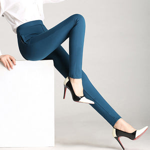 Candy Color Solid High Skinny Pants