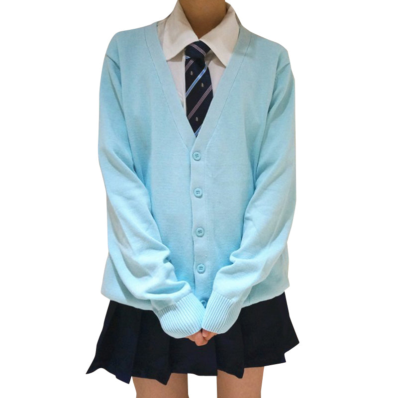 Autumn Japanese Style School Uniform Cardigan