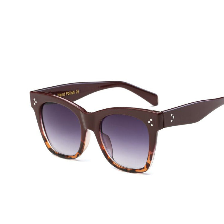 Flat Top Mirrored Sunglasses
