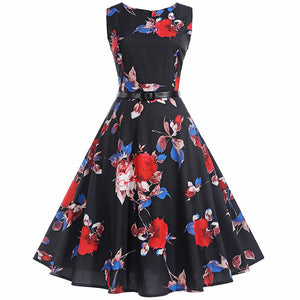 Vintage PinUp Hepburn 50s Rockabilly Swing Dress