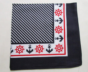 Anchor Nautical Print Scarf