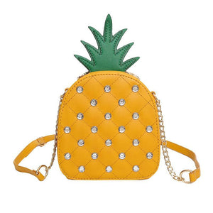 Fun Pineapple Chain Crossbody Shoulder Bag
