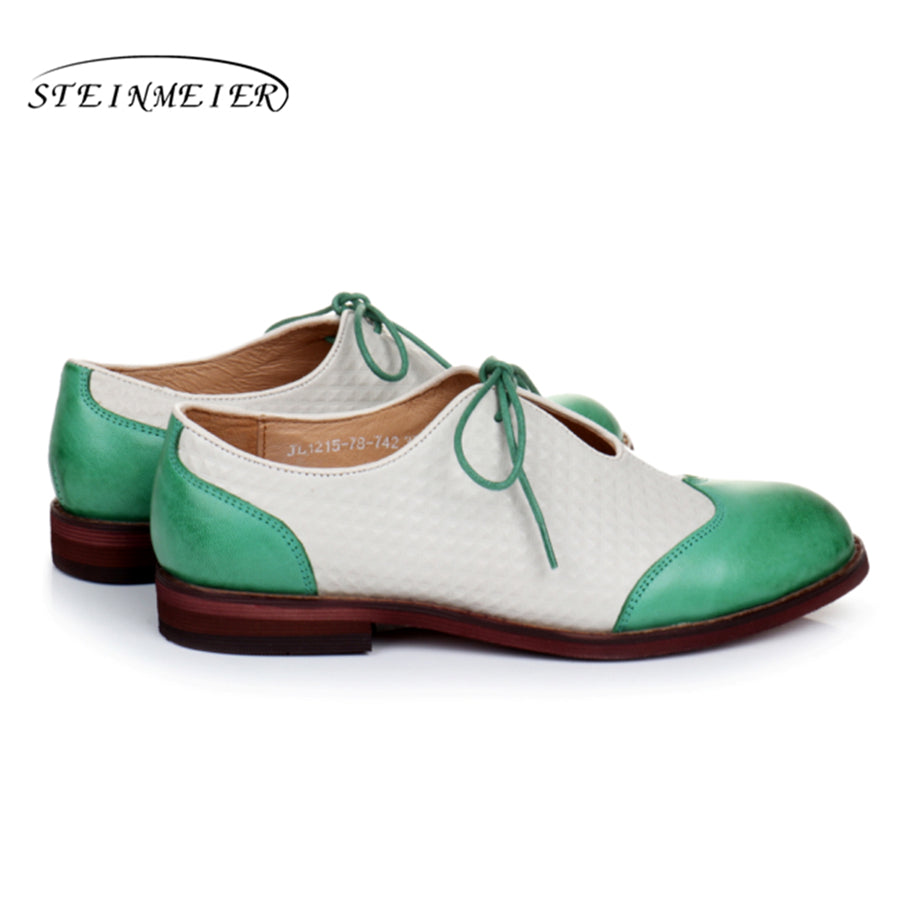 Vintage Flat Leather Oxford Shoes