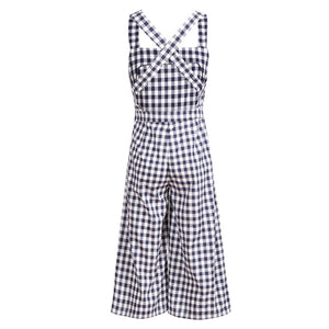 Vintage Plaid Jumpsuits