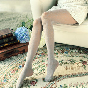 HOT 7 Colors Pantyhose Tights Women Thin Vintage Flower Floral Lace Hollow Out Sexy Stocking Collant Femme Medias Pantis Woman