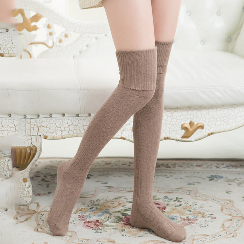 Vintage Cotton Knitted Stockings