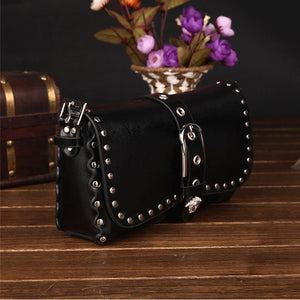 Genuine Leather Rivet Punk Handbags