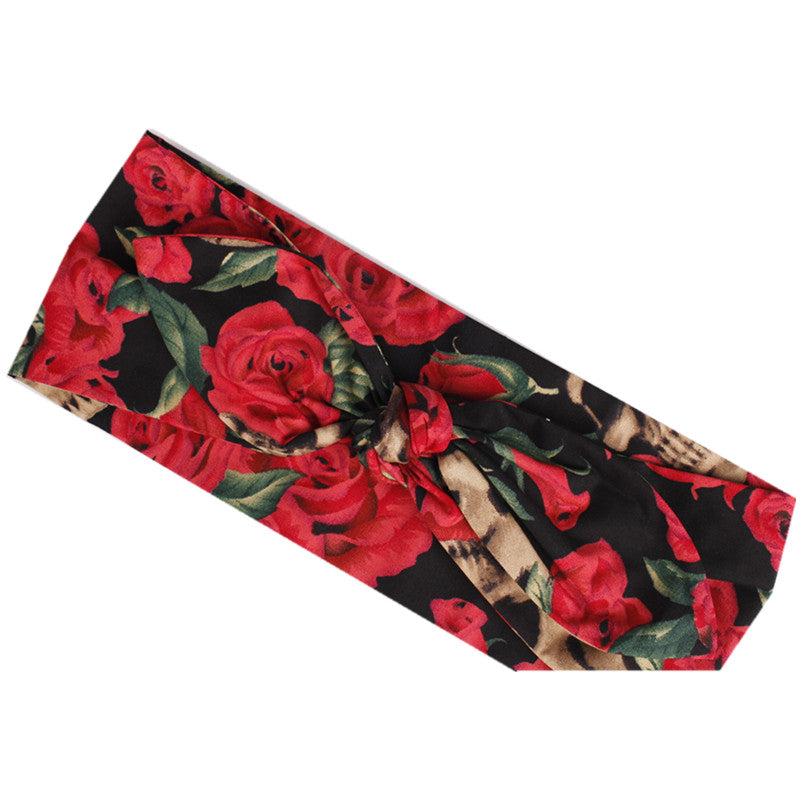 Red Rose Retro Rockabilly Pin Up Headband