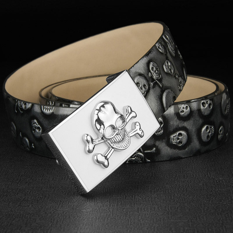 Men High Quality Skull Buckle