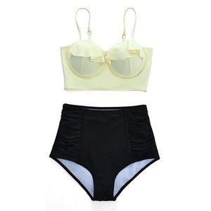 High Waist Retro Bikini Set Beach Wear