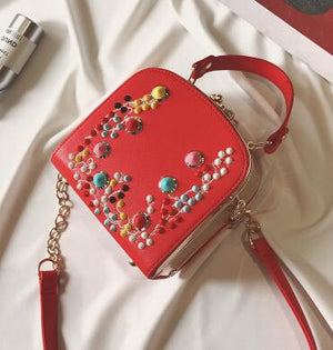 Punk Wind Rivets Small Handbag