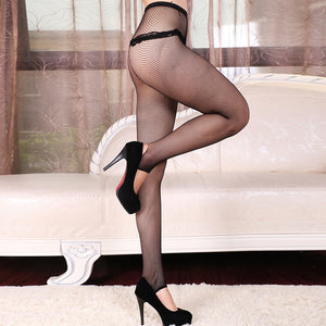 Vintage Lace Fishnet Pantyhose