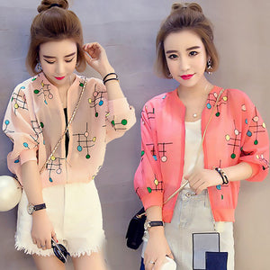 Plus Size Sleeve Chiffon Cardigan