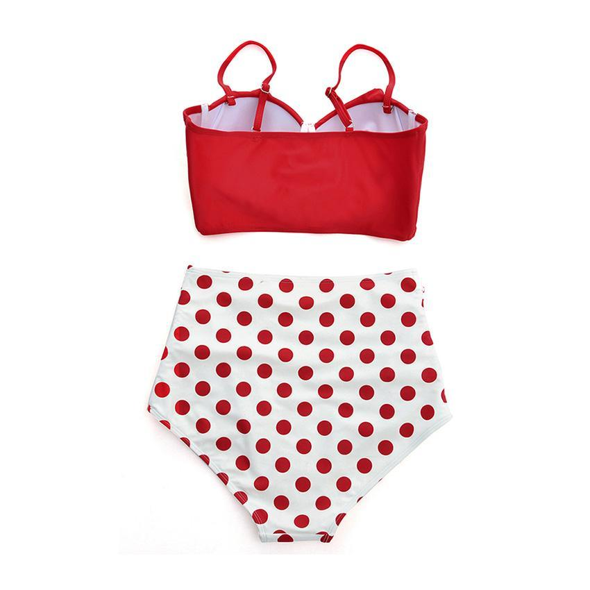 Red Polka Dots Underwire Swimsuit