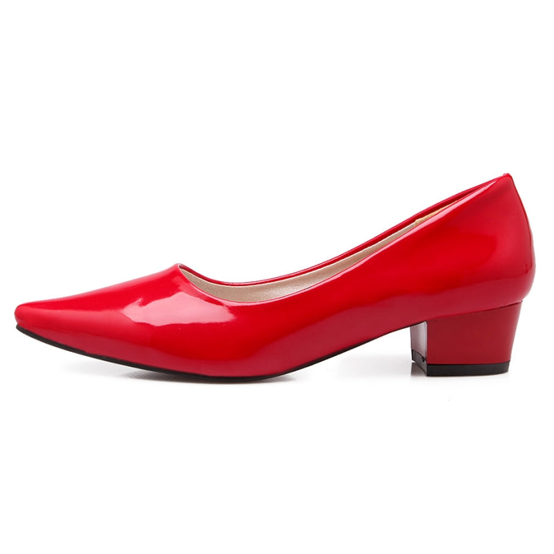 Vintage Square Low Heel Pointed Toe Shoes