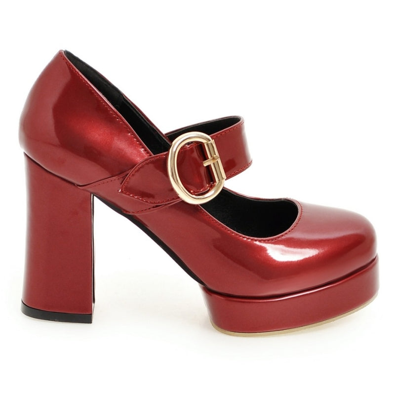 Vintage Mary Jane Thick High Heels Platform