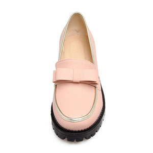 Vintage Bow Tie Shoes Low Square Heel