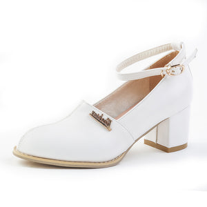 Vintage Roman Style Women Pumps Shoes