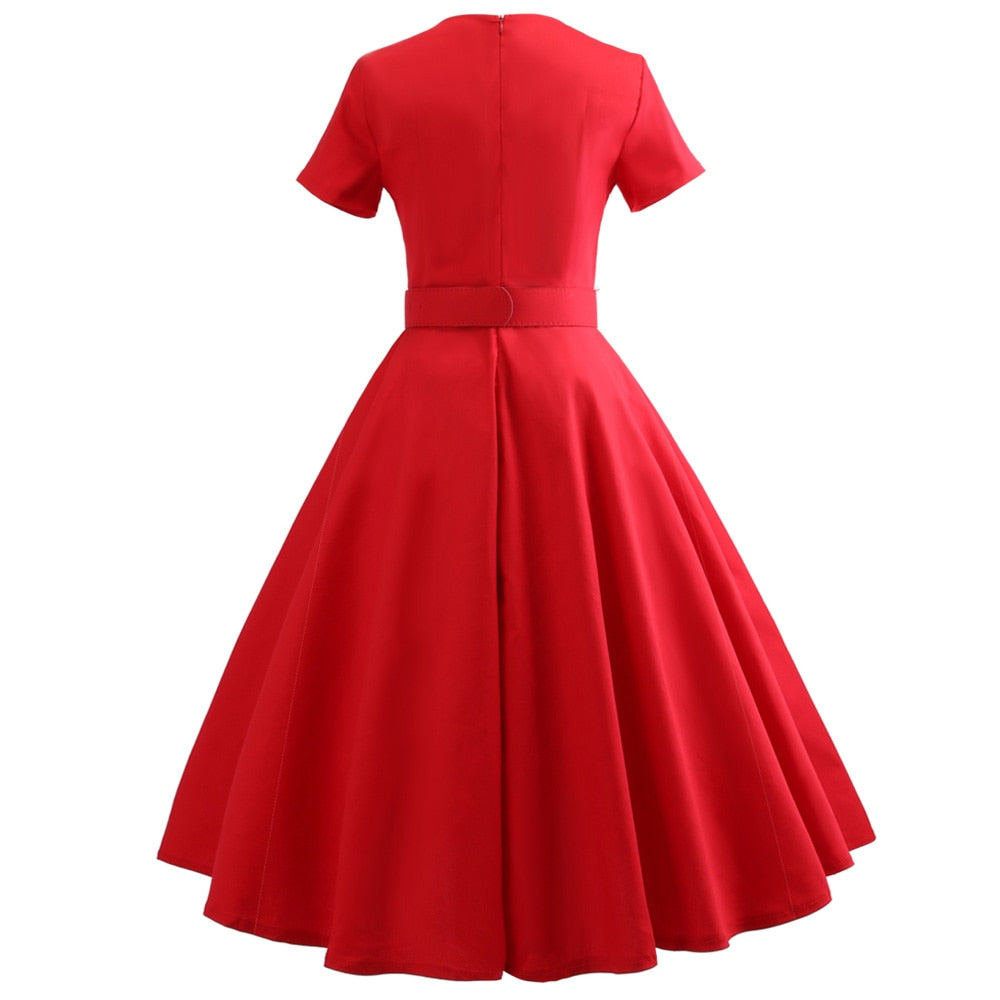 Audrey Hepburn Vintage Style A-LIne Empire Dress
