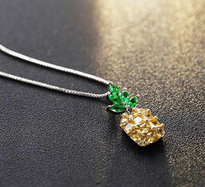925 Sterling Silver Pineapple Necklace