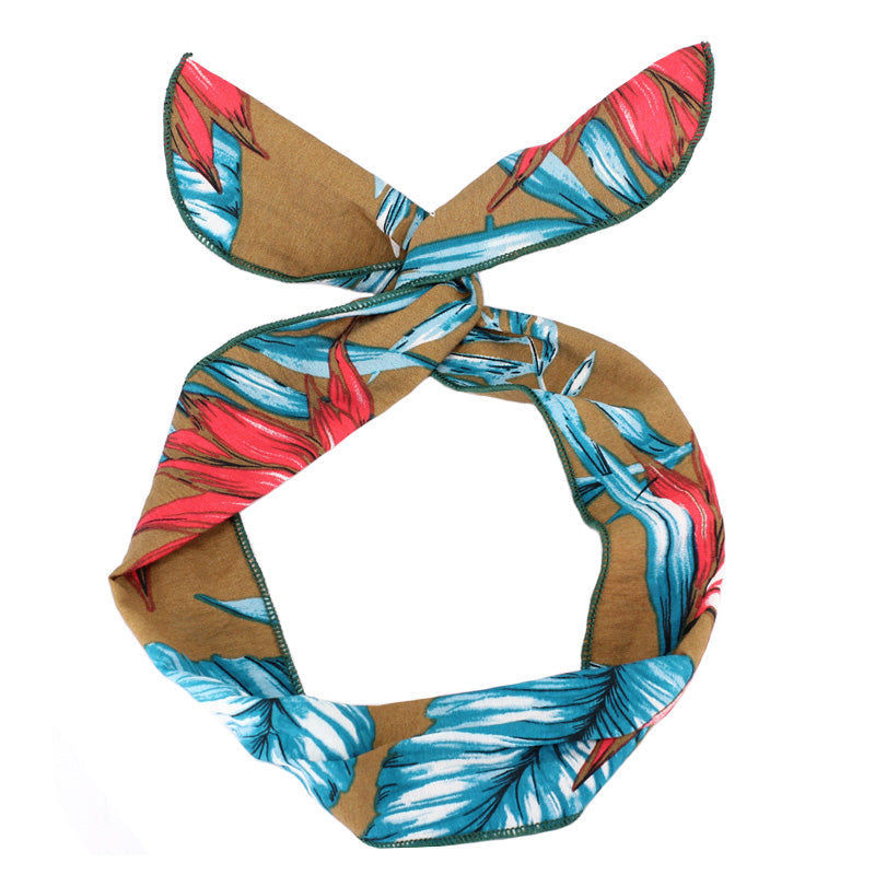 Leaf Print Wire Headband