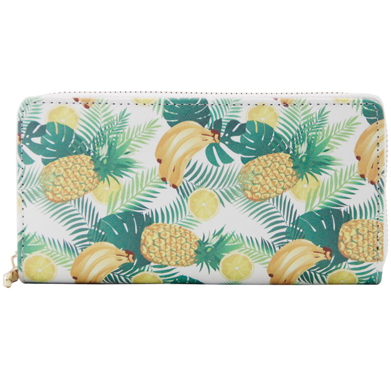 Lovely Pineapple Fruit Print Credit Card Holder Casual Wallets