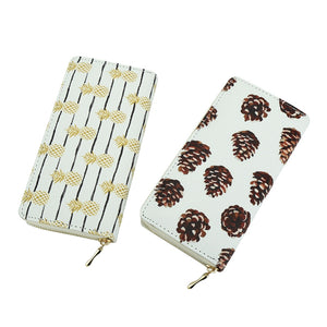 Womens Pineapple Print Wallet and Phone Case