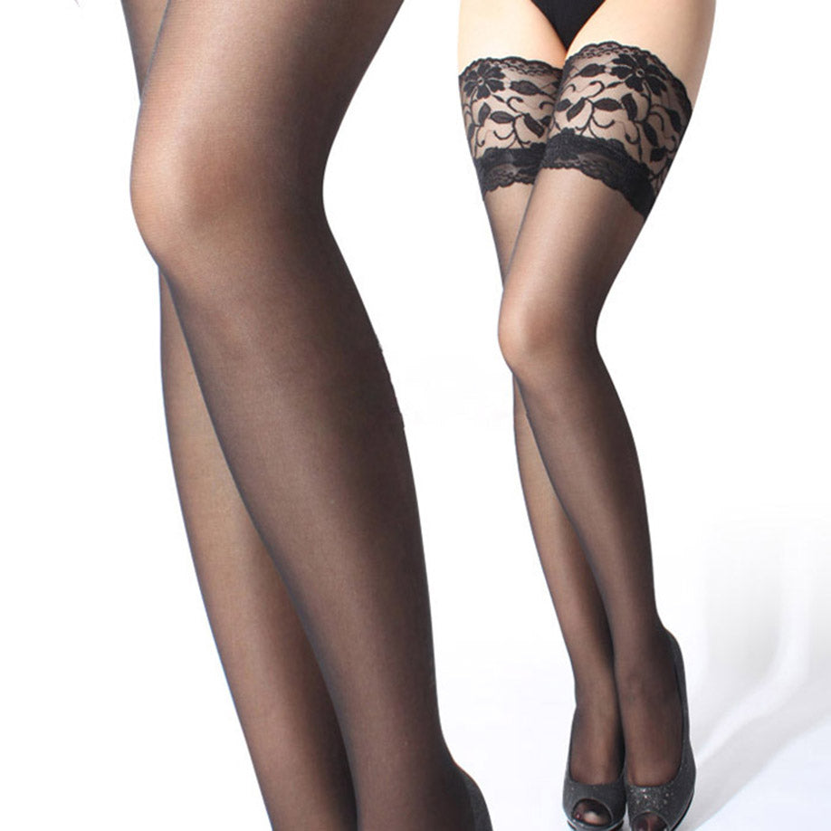 Enchanting Vintage Sexy Lace Band Thigh High Stockings
