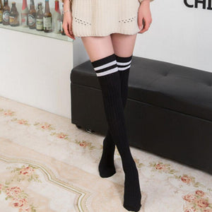 Vintage Knee Long Striped Socks