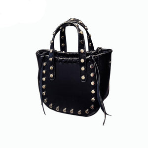 Punk Rivet Leather Small Mini Handbag