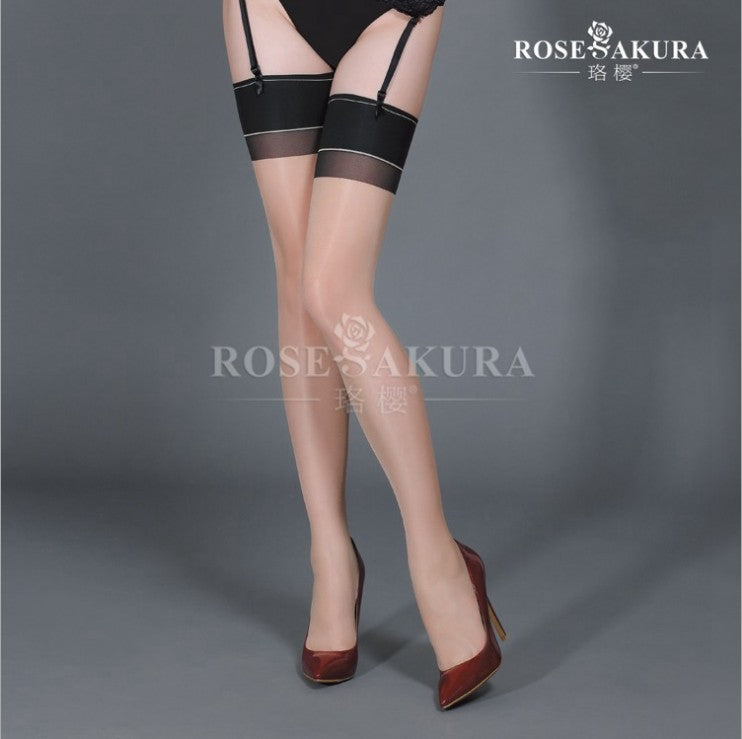 Thigh High Cuban Heel Seamed Stockings