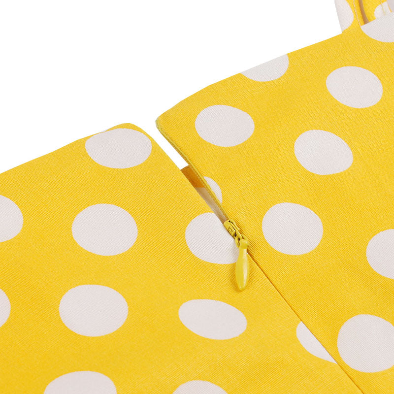 Yellow Polka Dot Vintage Summer Dress