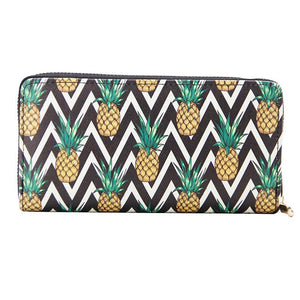 Girls Pineapple Print Casual Large Capacity Wallet